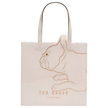 Buy Ted Baker Doggcon Large Icon Shopper Bag, Pale Pink Online at johnlewis.com