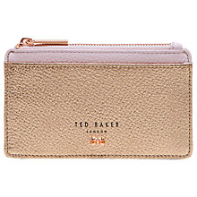 Buy Ted Baker Alica Leather Zipped Card Holder Online at johnlewis.com