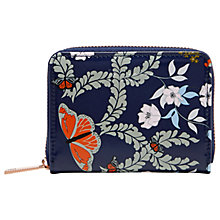 Buy Ted Baker Peeta Kyoto Gardens Leather Coin Purse, Mid Blue Online at johnlewis.com