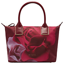 Buy Ted Baker Luzula Porcelain Rose Small Tote Bag, Maroon Online at johnlewis.com