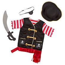 Buy Melissa & Doug Pirate Dress Up Costume Online at johnlewis.com