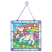 Buy Melissa & Doug Stained Glass Unicorn Craft Set Online at johnlewis.com