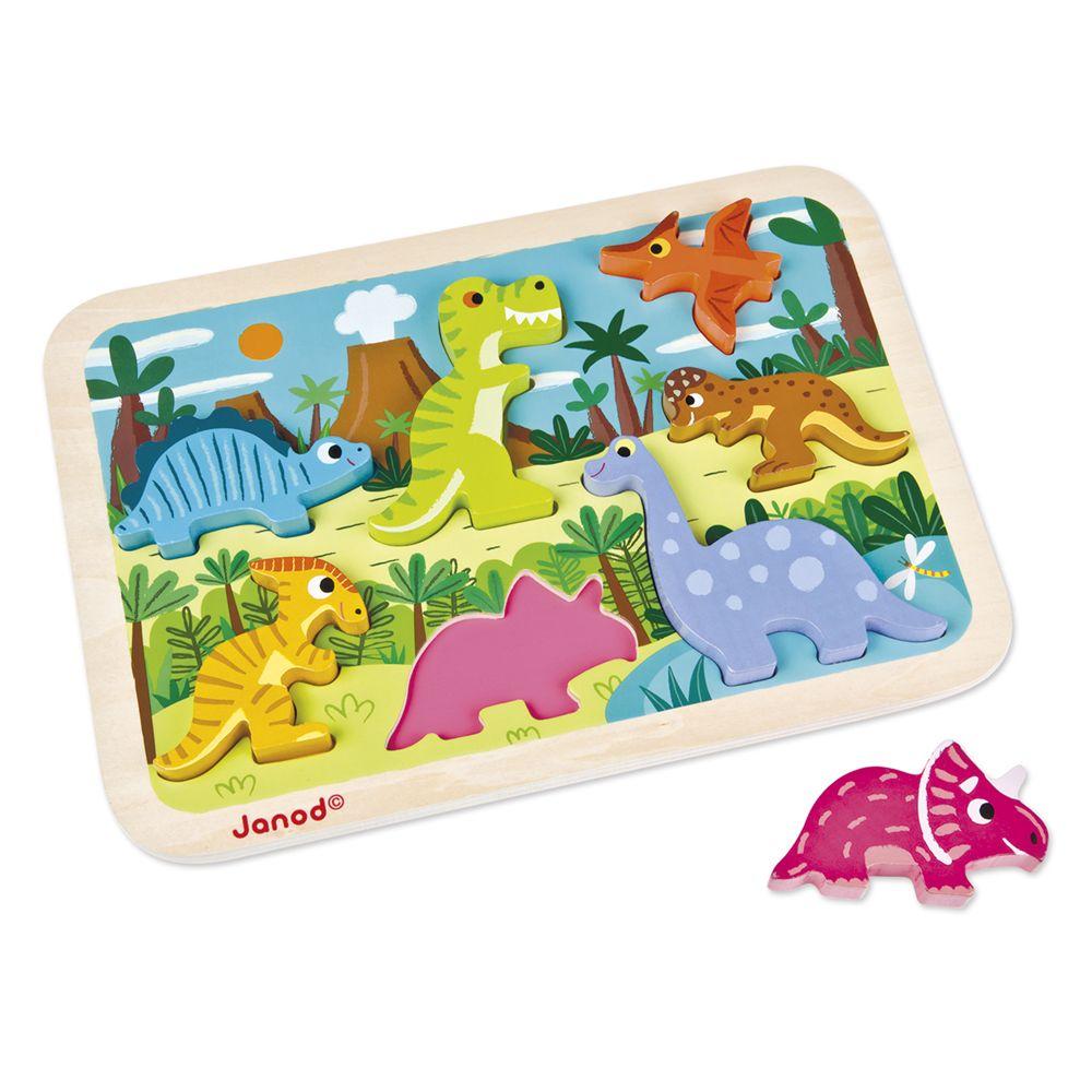 Janod Janod Chunky Wooden Dinosaur Puzzle