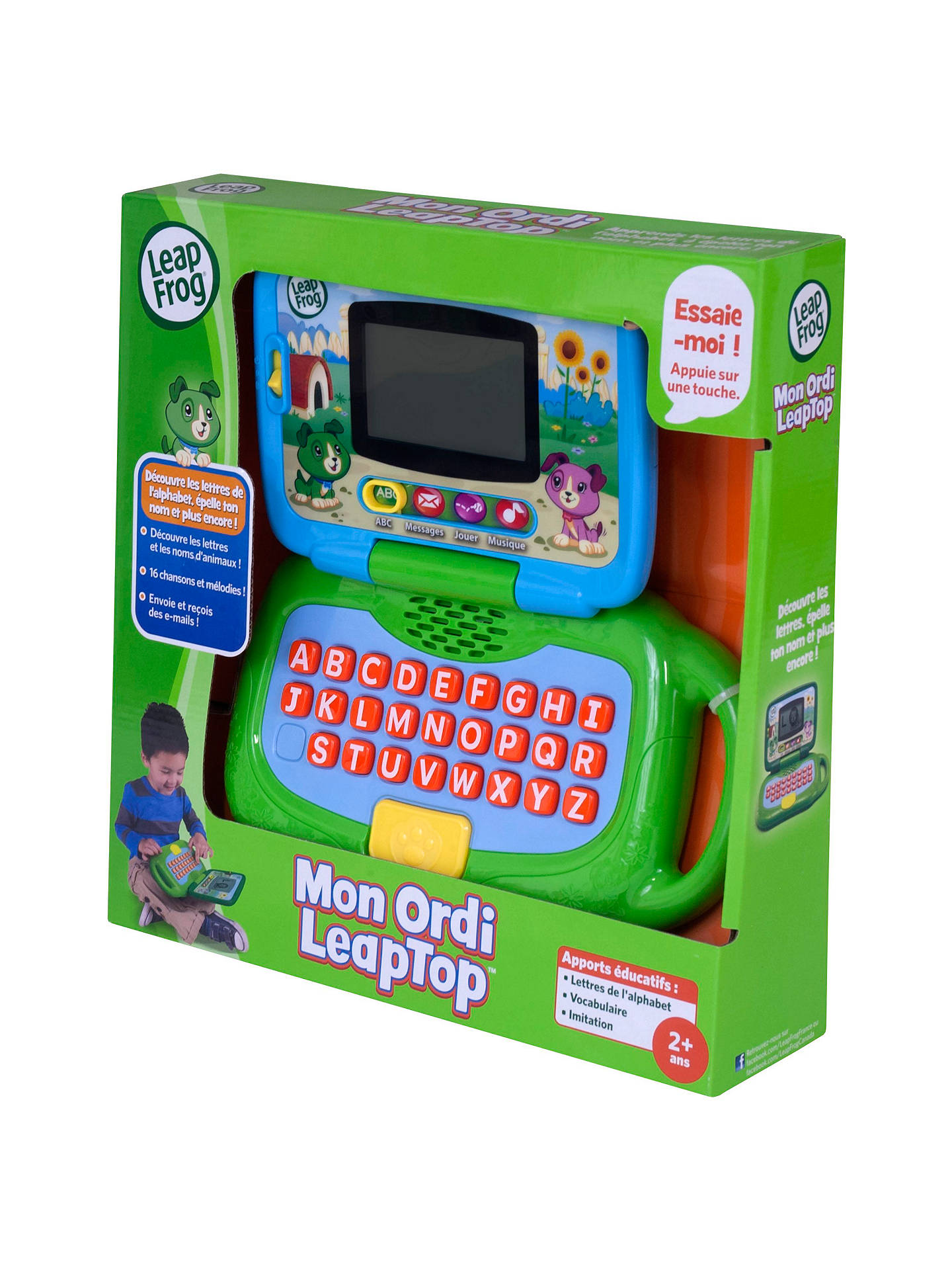 Buy LeapFrog 2 In 1 Leaptop Touch Laptop Green Online At Johnlewis