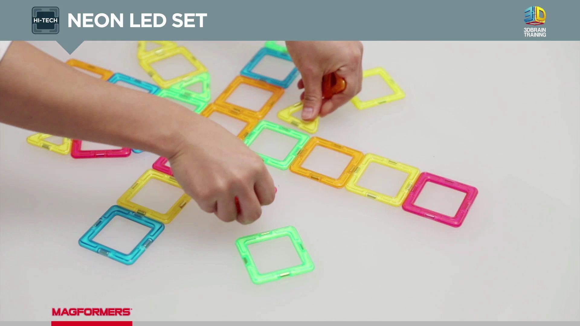Magformers Hi-Tech Neon LED Set