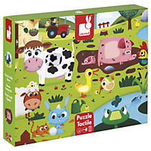 Buy Janod Wooden Tactile Farm Puzzle Online at johnlewis.com