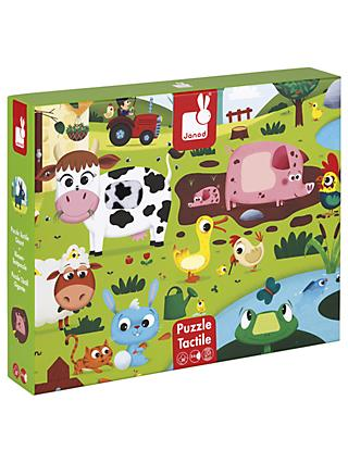 Janod Wooden Tactile Farm Puzzle