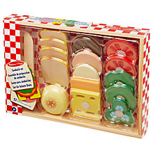 Buy Melissa & Doug Wooden Sandwich Set Online at johnlewis.com