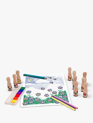 Melissa & Doug Deluxe Wooden Stamps Set