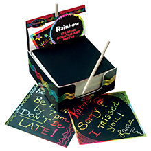 Buy Melissa & Doug Rainbow Mini Scratch Art Notes Online at johnlewis.com