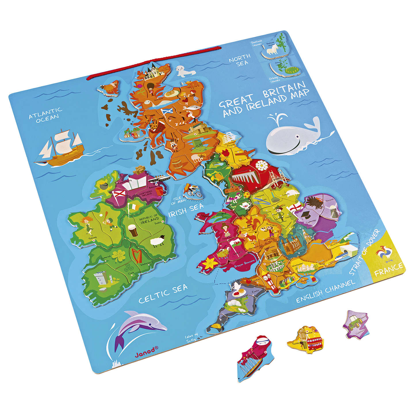 Janod great britain and ireland wooden magnetic map puzzle at john lewis buyjanod great britain and ireland wooden magnetic map puzzle online at johnlewis gumiabroncs Gallery
