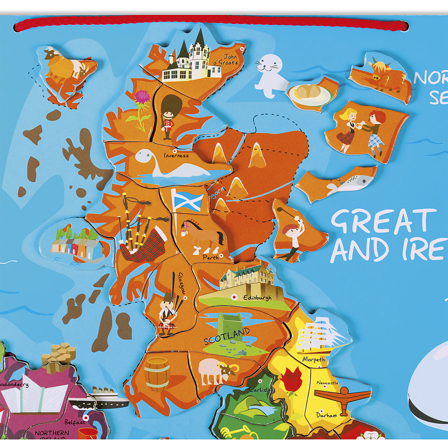 Buy Janod Great Britain And Ireland Wooden Magnetic Map Puzzle - Map of great britain and ireland