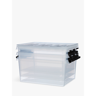 SmartStore by Orthex 15 Storage Box, Clear, 14L, Pack of 3