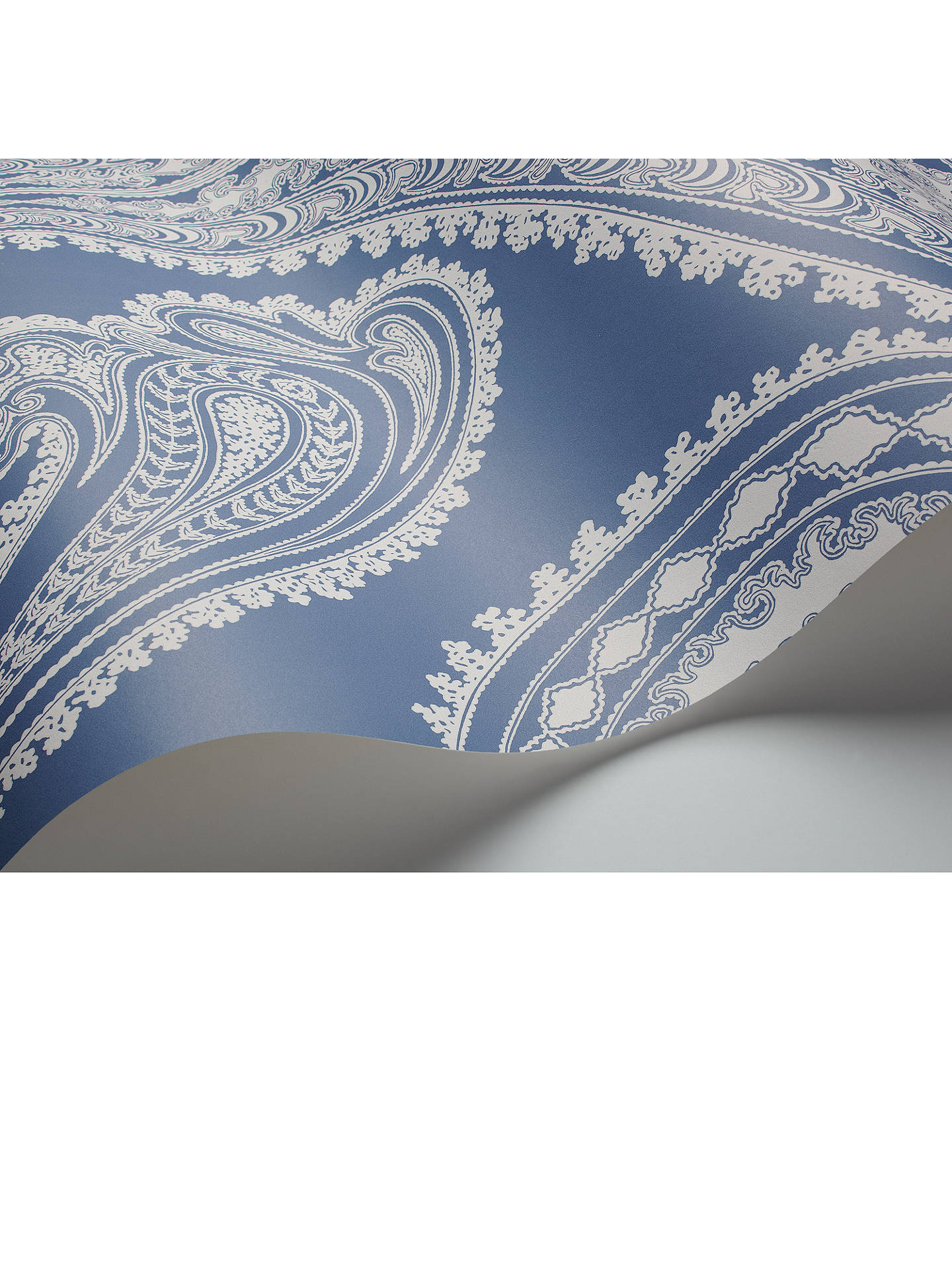 BuyCole & Son Rajapur Wallpaper, Dark Blue 95/2014 Online at johnlewis.com