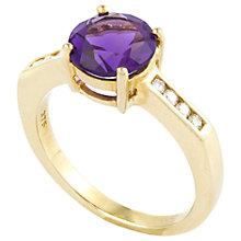 Buy A B Davis 9ct Gold Round Diamond Shoulder Ring Online at johnlewis.com