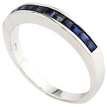 Buy A B Davis 9ct Gold 8mm Half Eternity Ring Online at johnlewis.com