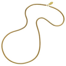 Buy Monet Long Snake Chain Necklace, Gold Online at johnlewis.com