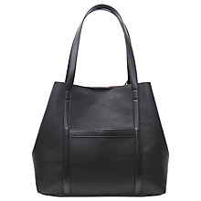 Buy French Connection Saffiano Julia Shopper Bag, Black/Silver Online at johnlewis.com