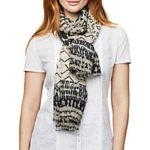 Buy East Patchwork Silk Scarf, Cardamon Online at johnlewis.com