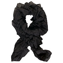 Buy Chesca Self Lined Frill Scarf, Black Online at johnlewis.com