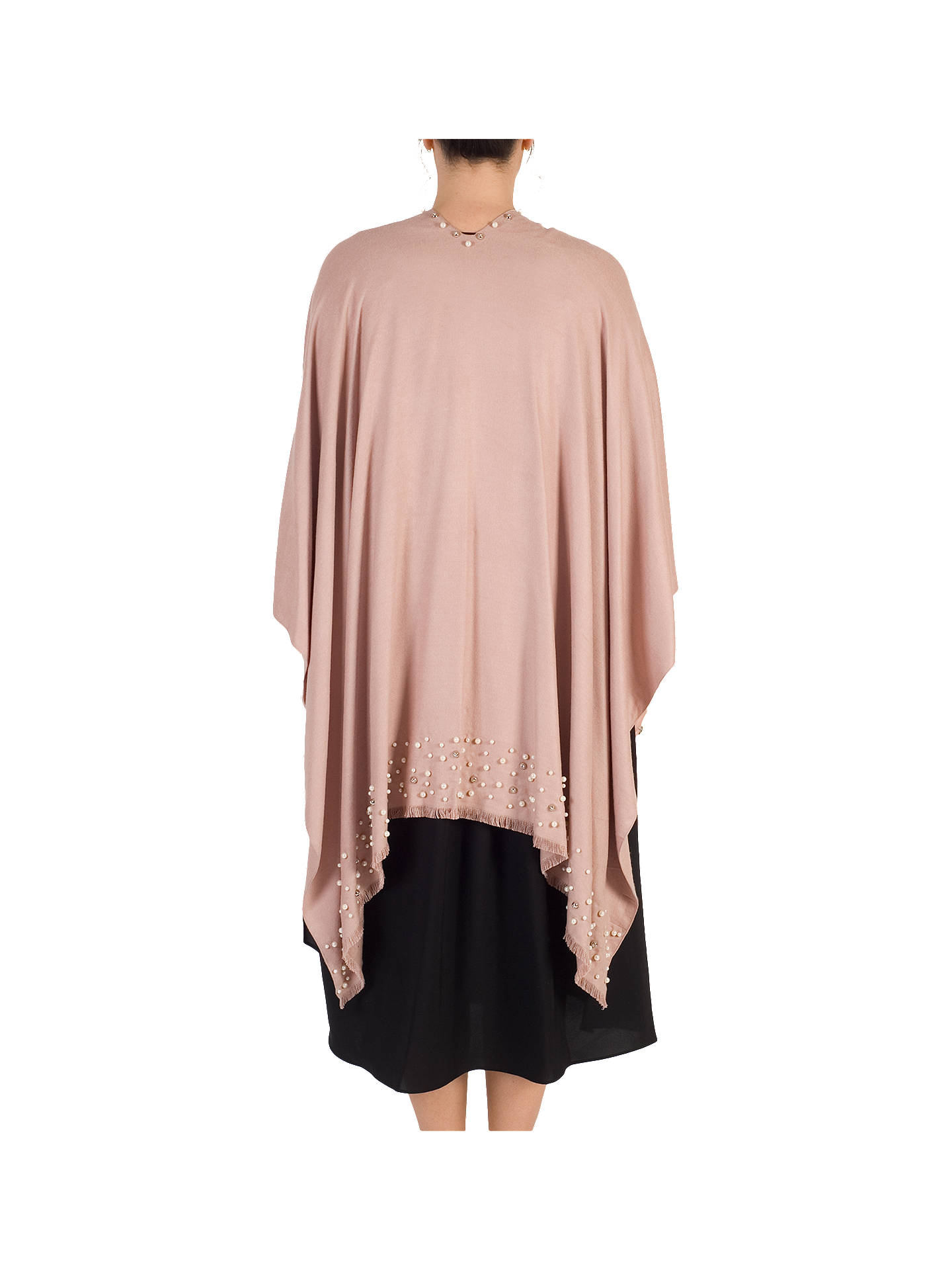 BuyChesca Pearl Beaded Poncho, Pink Online at johnlewis.com