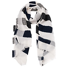 Buy French Connection Textured Stripe Scarf, Multi Online at johnlewis.com