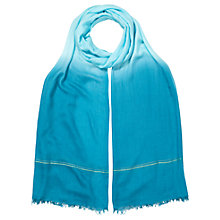 Buy East Ombre Border Scarf, Blue Online at johnlewis.com