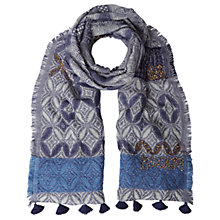 Buy White Stuff Prairie Patchwork Scarf, Blue Online at johnlewis.com