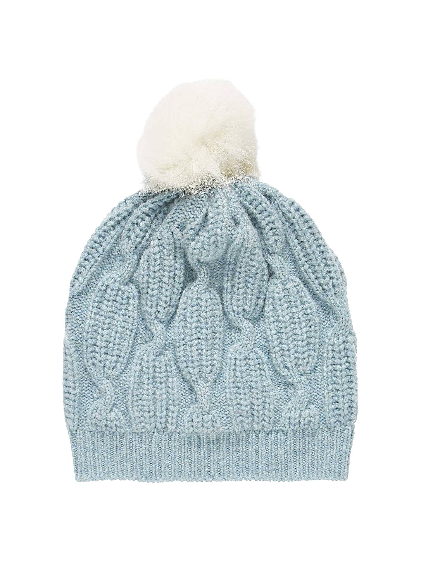 b03a59629d63b1 Buy Brora Cashmere And Sheepskin Beanie Hat, Haar Online at johnlewis.com  ...