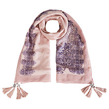 Buy White Stuff Meadow Lace Silk Scarf, Pink Online at johnlewis.com