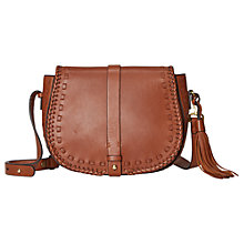 Buy White Stuff Rowan Saddle Bag, Tan Online at johnlewis.com