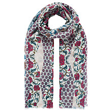 Buy Brora Patchwork Fairytale Stole, Rhubarb/Teal Online at johnlewis.com