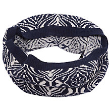 Buy Brora Cashmere Mosaic Snood, French Navy/Platinum Online at johnlewis.com