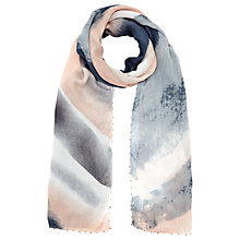 Buy Jigsaw Sarah Bead Edge Scarf, Dusky Pink Online at johnlewis.com