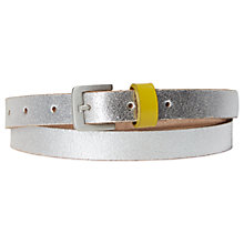 Buy White Stuff Metallic Skinny Belt, Silver Online at johnlewis.com
