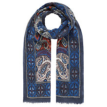 Buy Brora Paisley Floral Stole, Multi Online at johnlewis.com