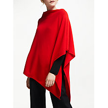 Buy Winser London Cashmere-Blend Poncho, Hollywood Red Online at johnlewis.com
