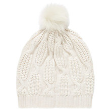 Buy Brora Cashmere And Sheepskin Beanie Hat Online at johnlewis.com