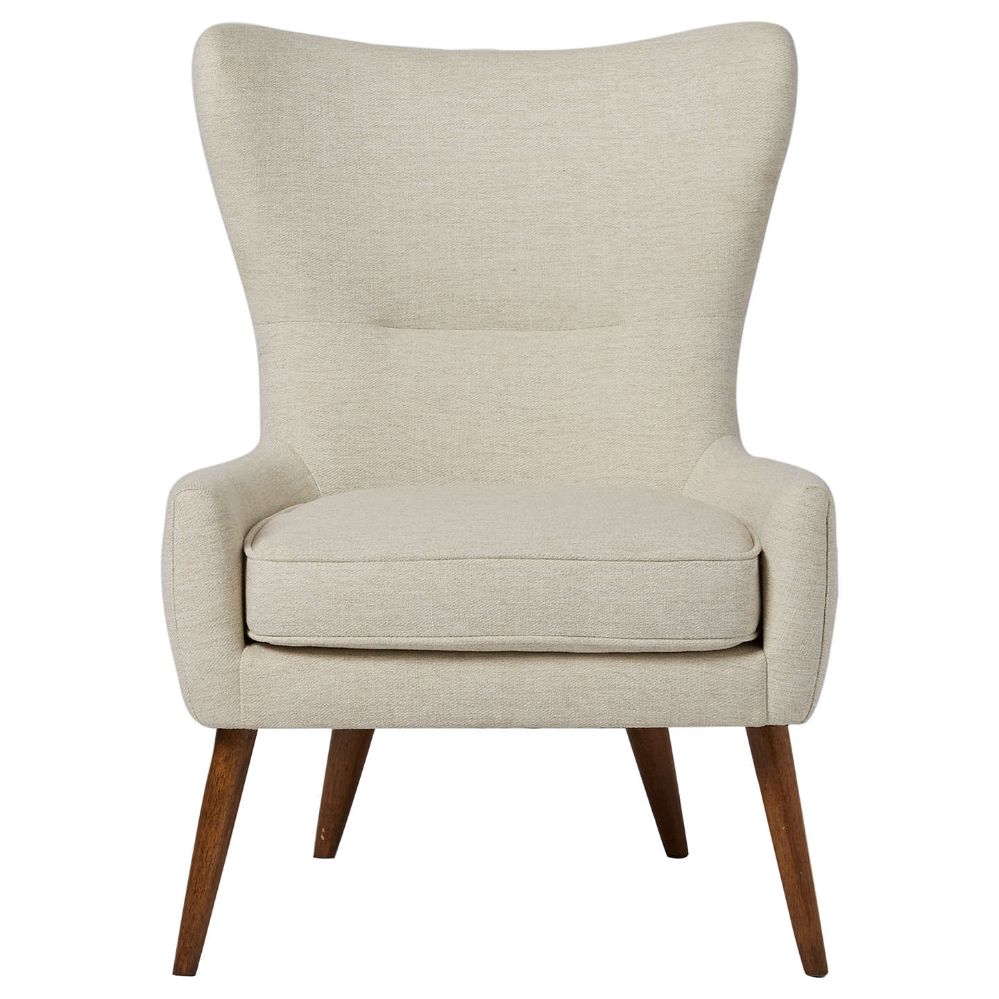 West Elm Erik Wing Chair Wheat Twill At Johnlewis Com