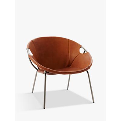 west elm Dries Sling Leather Armchair, Nutmeg