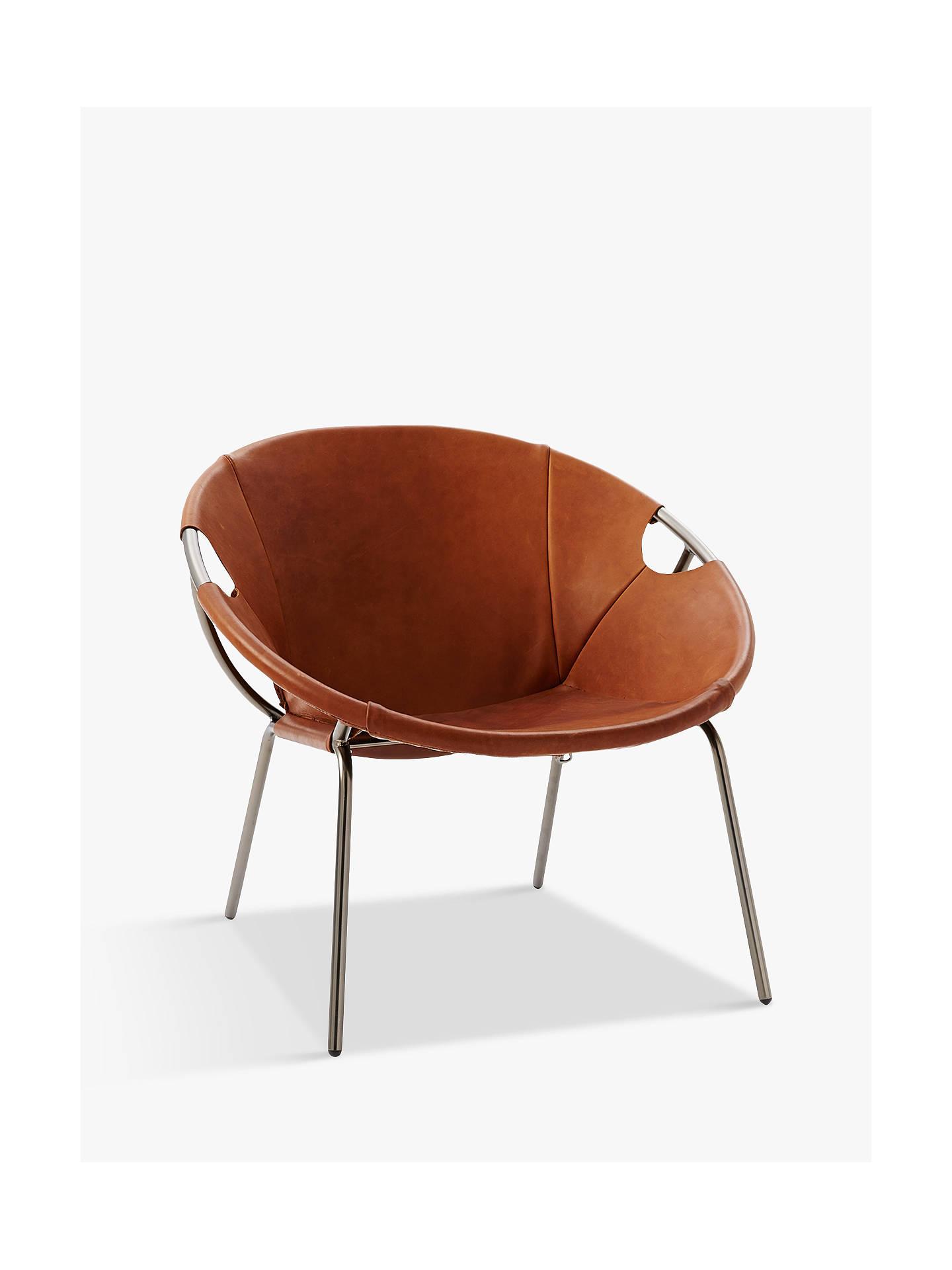 Awe Inspiring West Elm Dries Sling Leather Armchair Nutmeg At John Lewis Spiritservingveterans Wood Chair Design Ideas Spiritservingveteransorg