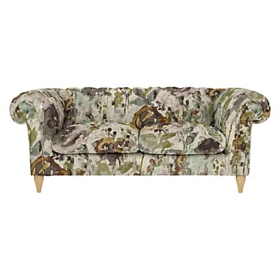 John Lewis Cromwell Chesterfield Large 3 Seater Sofa, Light Leg, Harper Plum