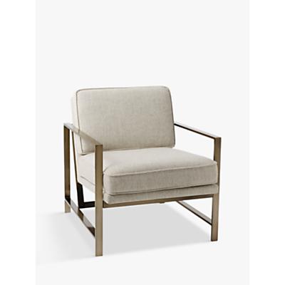 west elm Metal Frame Armchair, Twill
