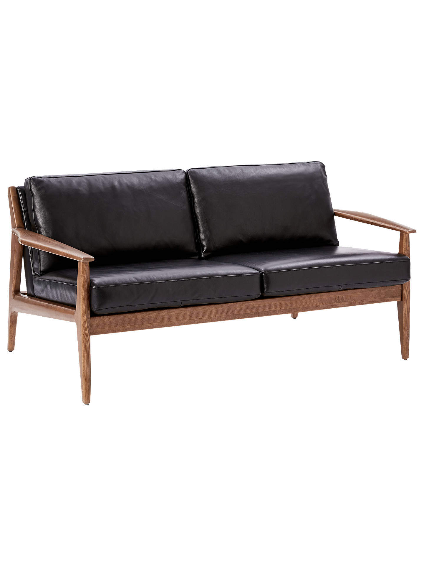 Astounding West Elm Mathias Leather Loveseat Black At John Lewis Unemploymentrelief Wooden Chair Designs For Living Room Unemploymentrelieforg