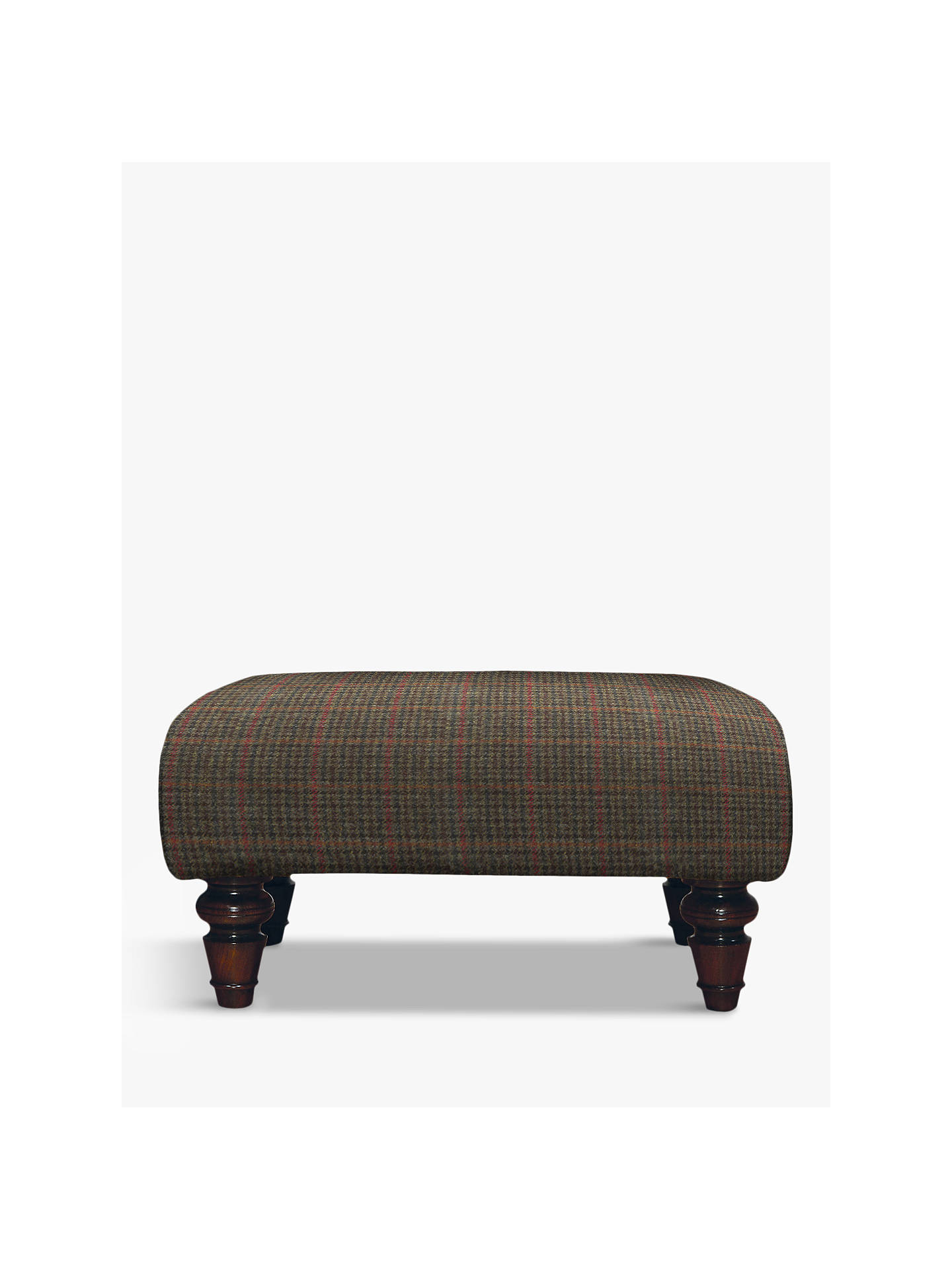 BuyTetrad Lewis Footstool, Mahogany Leg, Harris Tweed Dogtooth Check Online at johnlewis.com
