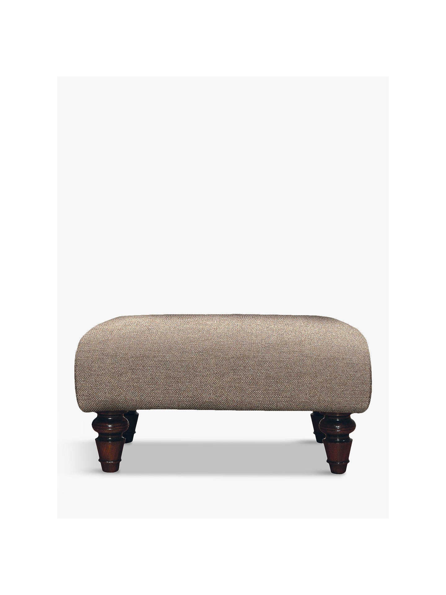 BuyTetrad Lewis Footstool, Mahogany Leg, Harris Tweed Heather Online at johnlewis.com