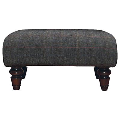 Tetrad Harris Tweed Lewis Large Footstool, Mahogany Leg