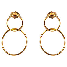 Buy Dogeared Karma Linked Circle Drop Earrings, Gold Online at johnlewis.com