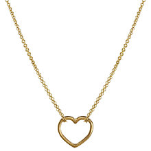 Buy Dogeared Good Karma Medium Open Heart Double Chain Pendant Necklace, Gold Online at johnlewis.com