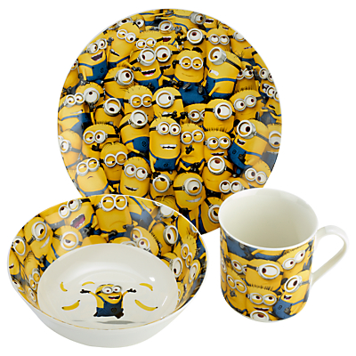 Image of Arthur Price Despicable Me China Set, 3 Piece